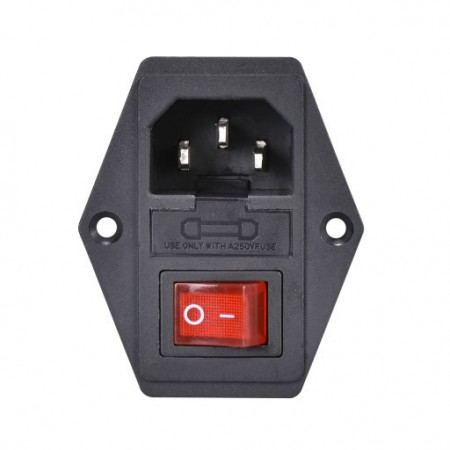 IEC320 C14 power socket with 10A fuse