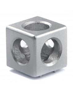 3-way cube corner connector for 3030 profiles