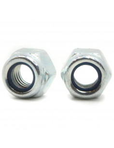 Self-locking nut M5 8mm DIN 982 ISO 7040 - galvanized