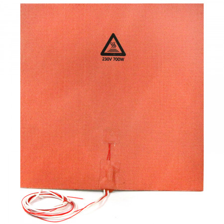 Silicone heater mat 500x500mm 230V 1700W