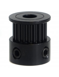 Remake3D pulley 20 tooth 6mm ID 5mm - black